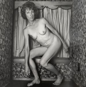 woman in small room/ portrait of K