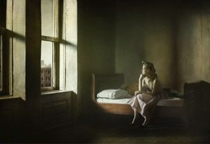 """Woman And Man On A Bed. From the series """"Hopper Meditations"""" © Richard Tuschman"""