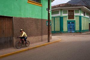 Boy on a bicycle, Calca, Peru
