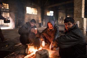 Afghan refugees in Belgrade