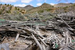 Abandoned Mining Camp, Colorado: Miner's Dormitory.