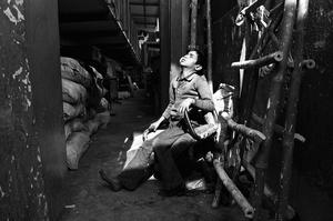 Sonu,10,ragpicker, Salaam Baalak Trust's contact point in the GRP police station, New Delhi Railway Station. Sonu had been thrown off a train.