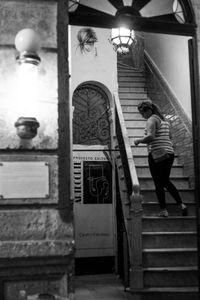Woman in Stairwell Havana Cuba