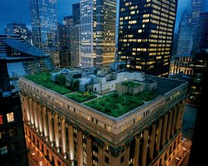 A green garland crowns Chicago's City Hall, softening the hard edges of a town famous for steel and stone—and helping to keep the building cool in summer. Illinois, 2009 © Diane Cook and Len Jenshel, National Geographic