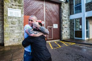 The moment a family is reunited with their dad after 2 and a half years of him inside HMP/YOI Portland, Dorset.