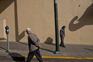 two men, Chinatown, San Francisco.