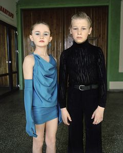 Ballroom dancers, Nikita and Rufina. Omsk. Western Siberia, May 2005 From the book, Motherland, by Simon Roberts © Simon Roberts
