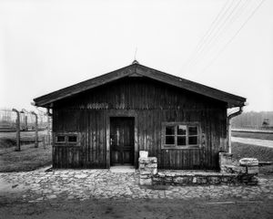Cabin of the section commander at the train ramp - KL Auschwitz II Birkenau