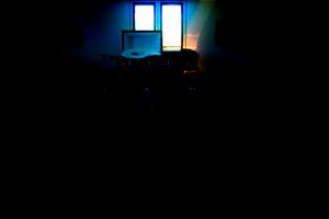 Blue casket