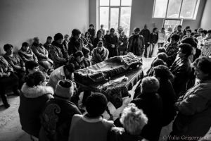February 5, 2015. Vanik Ghukasyan (60), native of Nerqin Karmiraghbyur village, is shot dead by Azeri armed forces. Each of the villagers present knows that they could be next.