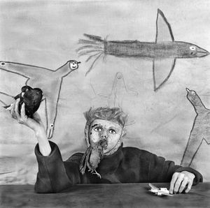"""Take off. From the series """"Asylum of the Birds"""" © Roger Ballen"""