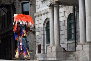 Hopi dancer in full regalia.