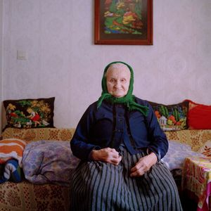 Maria Wirth, Protestant Sorb near Hoyerswerda, Lusatia, 2015. From the series: The last women in their traditional peasant garbs