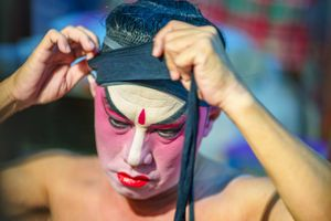Makeup of Cantonese  Opera