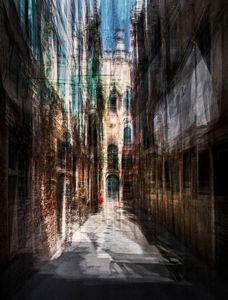 A small alley in Venice