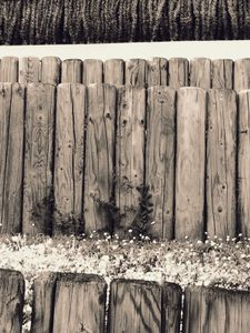 Wooden Posts and Grass 2