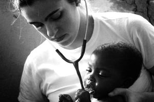 A volunteer Brazilian doctor who coordinated the attendance at the NGO School. More than 100 children were cared for by volunteers each day during the project.