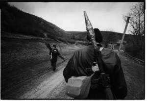 Into Gronzy while surrounded by the Russian army, dec 1999
