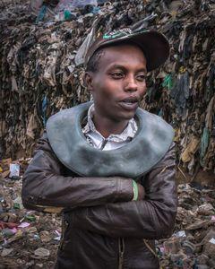 Nwangi, 24,  landfill scavenger and gang member