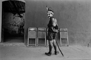 Boy dressed as demon, San Martin Tilcajete