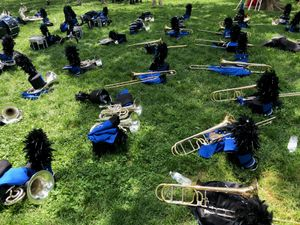 Marching Band Instruments, After the Parade, Memorial Day, 2019, Washington, D.C.