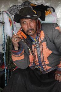 Mongolian cowboy in the Khövsgöl Province