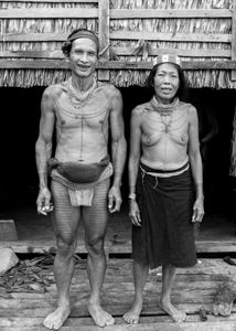 Couple Mentawai. Cousins.