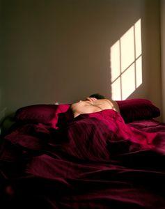 Self-portrait (bed)