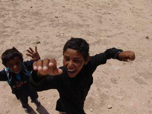 Nomads in Syrian desert