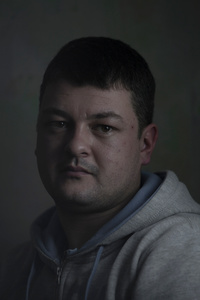 Dmytro, 29, carpenter, picture was taken after he spent 12 months in the war zone, January 2016, Ukraine.