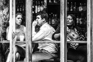 Scene from an East Village restaurant