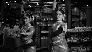 A Traditional Indian dance performance