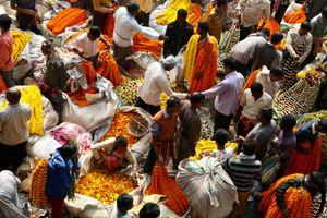 Flower Market, Calcutta.
