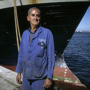 Hake fisherman, Saldhana, South Africa.