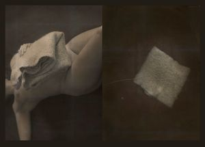 Wool and womb, swollen bellies (from the series PHOTO-BODIES: In between the edge of a stitched soul)