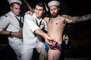 Sailors and a Friend, New York NY, May 2017