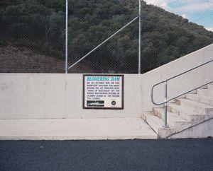 World speed record sign, Blowering Reservoir