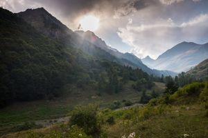 Val D'Arma, Cuneo, Italy, after a storm on the Altopiano della Gardetta