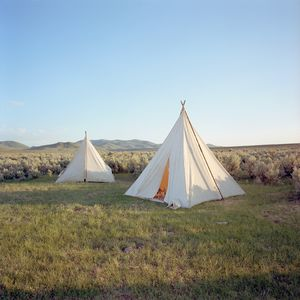 Branding camp, Spanish Ranch, Nevada
