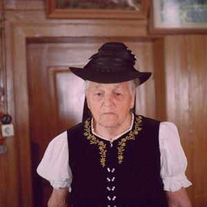 Maria Strecker, Black Forest, 2011. From the series: The last women in their traditional peasant garbs