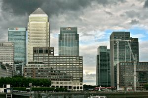 Canary Wharf In The Afternoon Sun