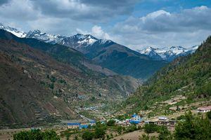 The Himalayan peaks.