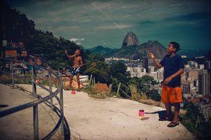 Boys having fun at Favela Santa Marta, Rio de Janeiro