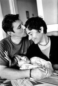 Lola Gutierrez (3) with her dad Gustavo and mom Annette.  Ethnicity: French • Spanish • Venezuelan • Cuban • Armenian • Italian • Greek • Chinese ©2014,  Stephen Shames