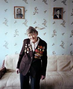 "Galina Ivanova, Shchuchyn, Nurse. From the series, ""I Reminisce and Cry for Life (Women veterans of II World War in Belarus)"" © Agnieszka Rayss. Finalist, LensCulture Exposure Awards 2013."