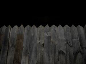 The back fence. © Ross Duncan