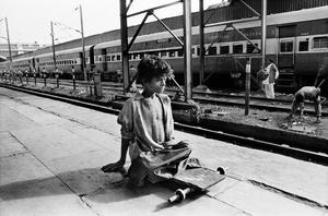 Munna,12,beggar,New Delhi Railway Station.