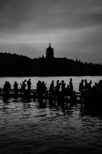 Silhouettes of Hangzhou