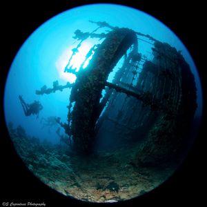 The wreck of the Umbria, Sudan.