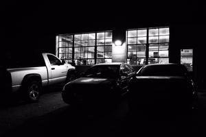 Mechanic's Shop at Night